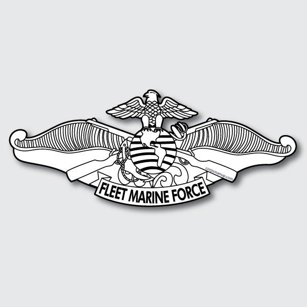fleet marine force sticker