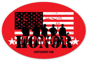 red friday honor sticker