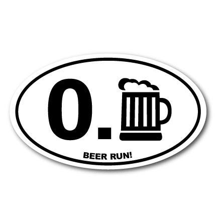 beer run funny sticker