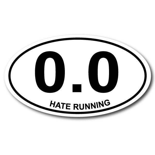 hate running funny sticker