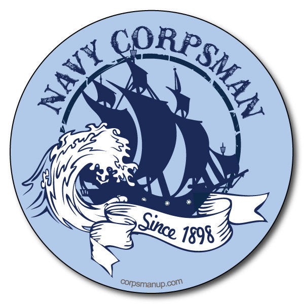 blue us navy ship sticker