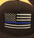 thin blue line police flag hat
