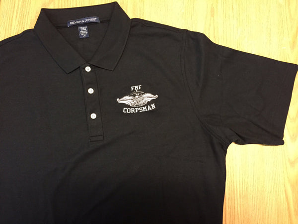 FMF corpsman embroidered polo