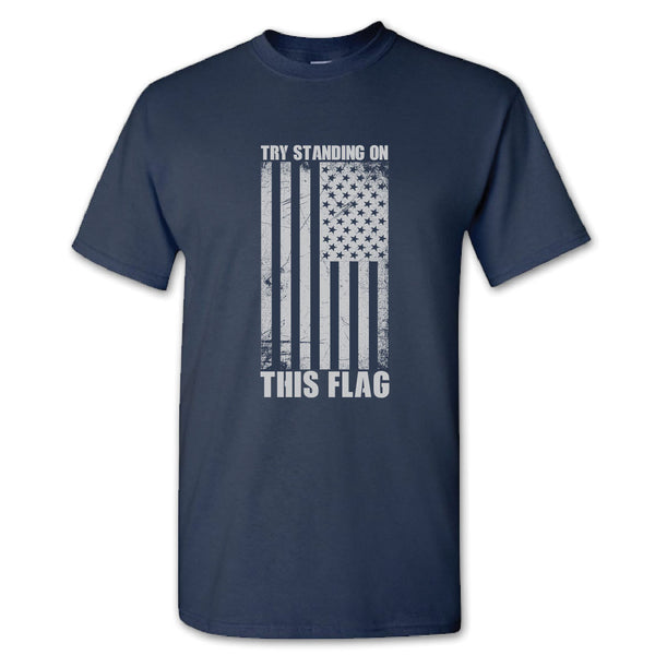try standing on this flag shirt