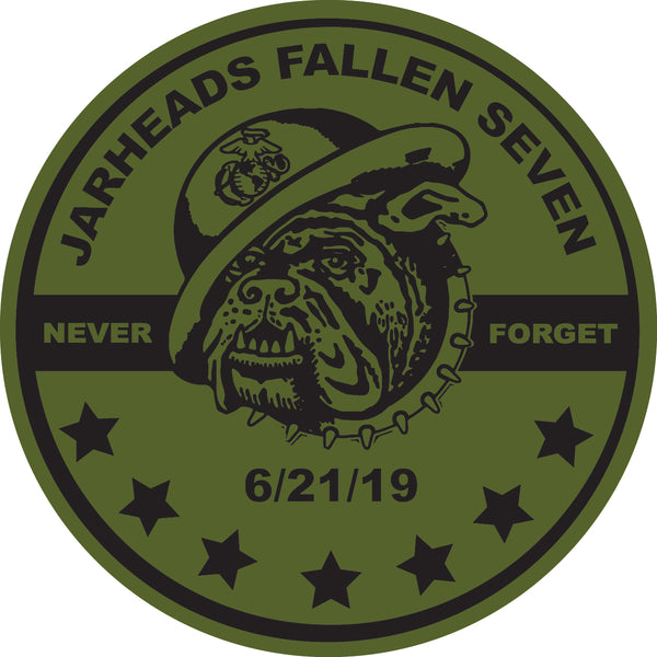 Fallen Jarhead Sticker