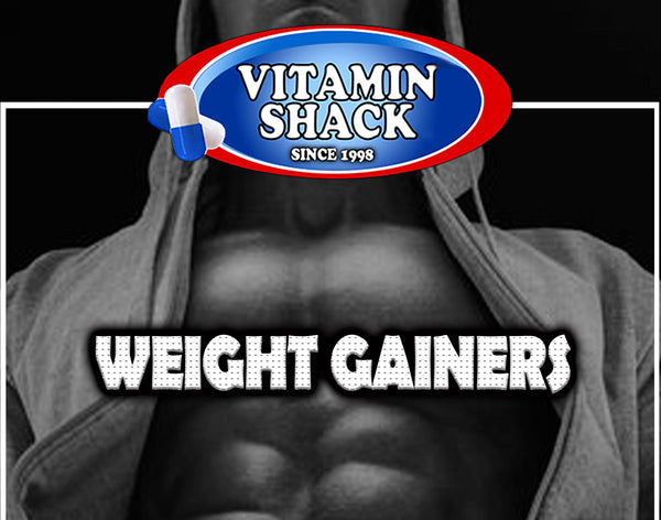 Weight gainers and mass builders at the Vitamin Shack lowest prices.