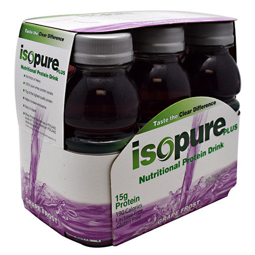 Natures Best Isopure Plus RTD - Grape Frost - 24 Bottles - 089094034979