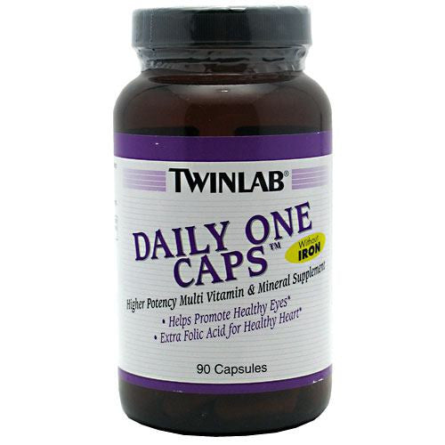 TwinLab Daily One Caps Without Iron - 90 Capsules - 027434003544