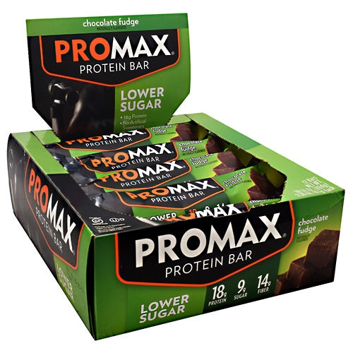 Promax Lower Sugar Protein Bar - Chocolate Fudge - 12 Bars - 743659188810