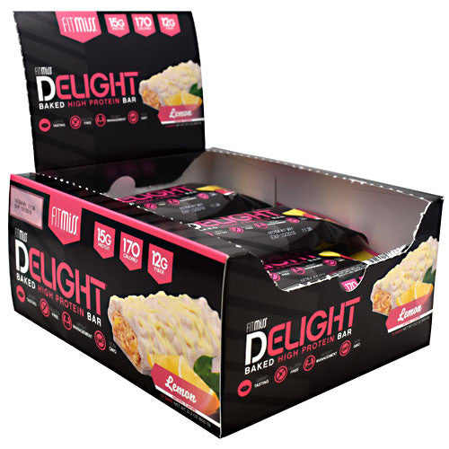FitMiss Delight - Lemon - 12 Bars - 653341417510