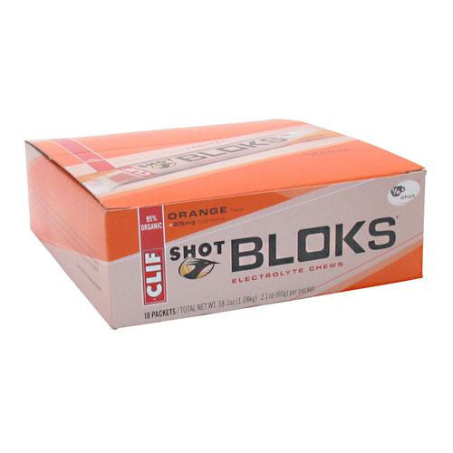 Clif Shot Bloks Electrolyte Chews - Orange - 18 ea - 722252380654