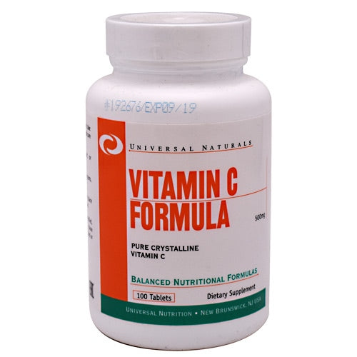 Universal Nutrition VItamin C Formula - 100 Tablets - 039442047120