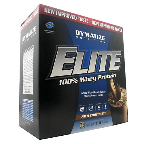 Dymatize Elite 100% Whey Protein - Rich Chocolate - 10 lb - 705016560189