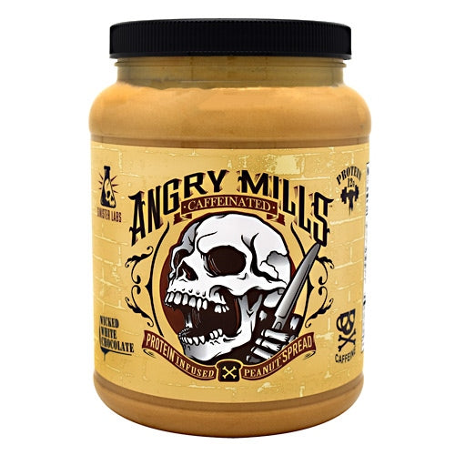 Sinister Labs Caffeinated Angry Mills Peanut Spread - Wicked White Chocolate - 75 oz - 853698007154
