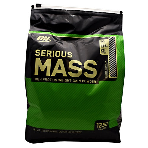 Optimum Nutrition Serious Mass - Cookies and Cream - 12 lb - 748927055641