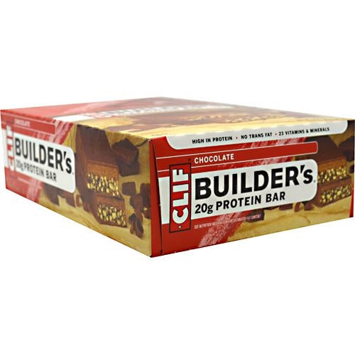 Clif Builders Cocoa Dipped Double Decker Crisp Bar - Chocolate - 12 Bars - 722252600424