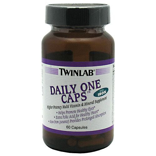 TwinLab Daily One Caps with Iron - 60 Capsules - 027434009041