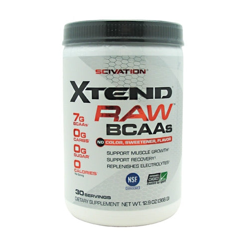 Scivation Xtend - Raw Unflavored - 30 Servings - 812135020910