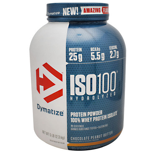 Dymatize ISO 100 - Chocolate Peanut Butter - 5 lbs - 705016353552