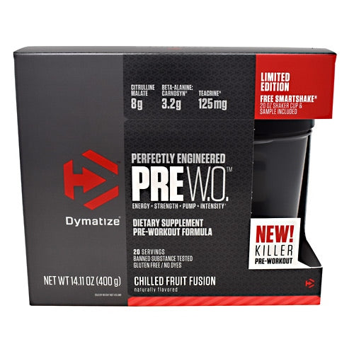 Dymatize Pre W.O. - Chilled Fruit Fusion - 20 Servings - 705016171125