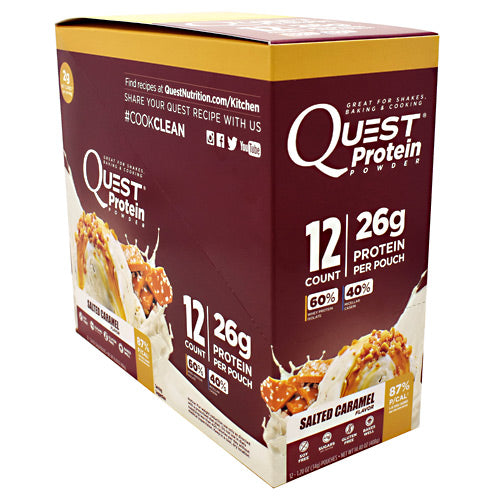 Quest Nutrition Quest Protein Powder - Salted Caramel - 12 Packets - 888849000852