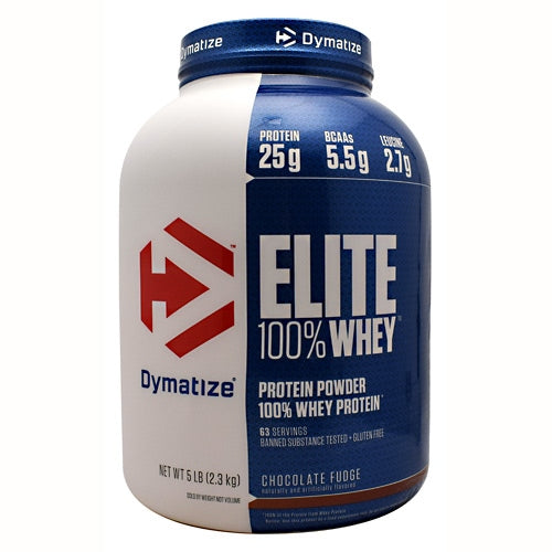 Dymatize Elite 100% Whey - Chocolate Fudge - 5 lb - 705016560042