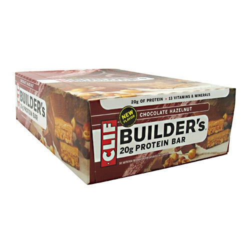 Clif Builders Cocoa Dipped Double Decker Crisp Bar - Chocolate Hazelnut - 12 Bars - 722252603500
