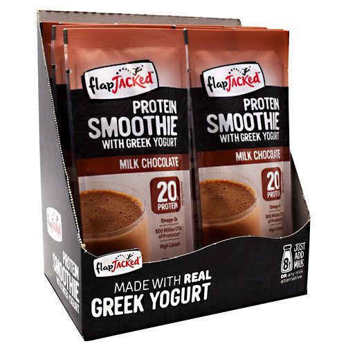 FlapJacked Protein Smoothie - Milk Chocolate - 12 Packets - 10850171005611