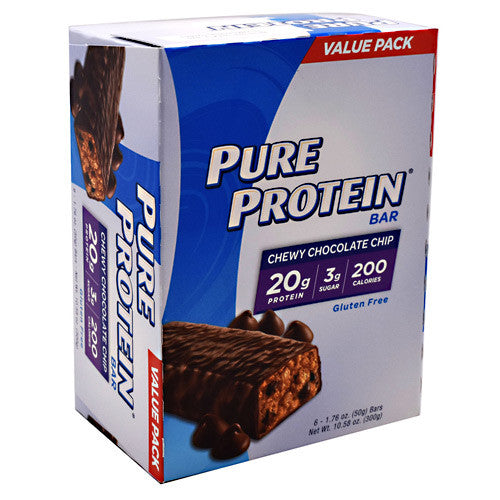 Pure Protein Pure Protein Bar - Chewy Chocolate Chip - 6 Bars - 749826000589