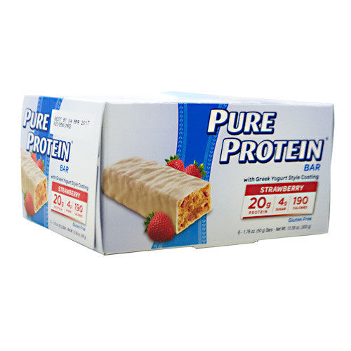 Pure Protein Pure Protein Bar - Greek Yogurt Strawberry - 6 Bars - 749826538631