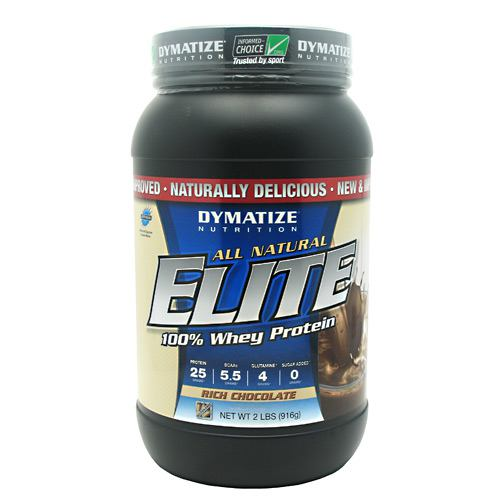 Dymatize All Natural Elite Whey Protein Isolate - Rich Chocolate - 2 lb - 705016433315