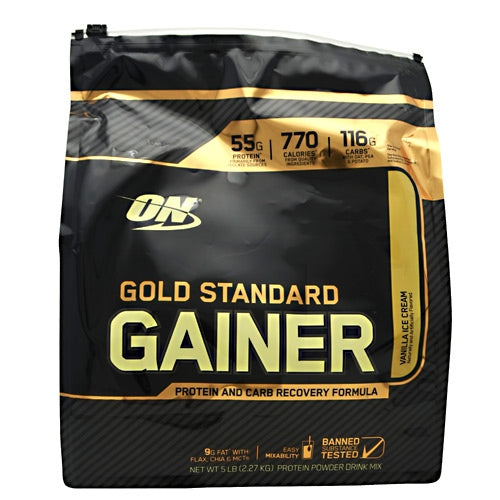 Optimum Nutrition Gold Standard Gainer - Vanilla Ice Cream - 5 lb - 748927055634