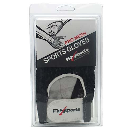 Flexsports International Pro Mesh Sports Gloves Black - Medium -   - 718774343345
