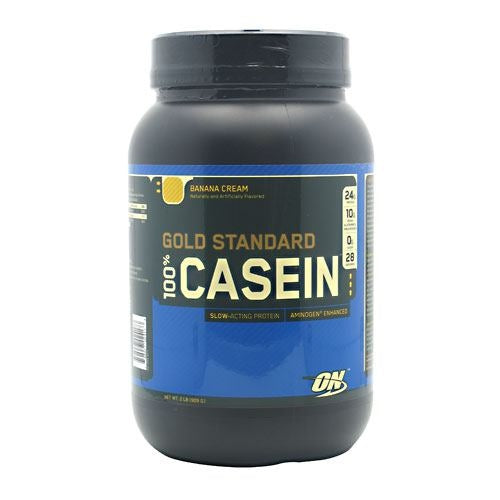 Optimum Nutrition Gold Standard 100% Casein - Banana Cream - 2 lb - 748927024173