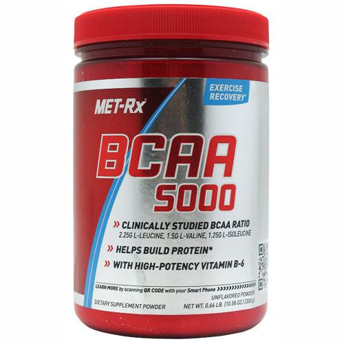 MET-Rx BCAA Powder - Unflavored - 300 g - 786560312011