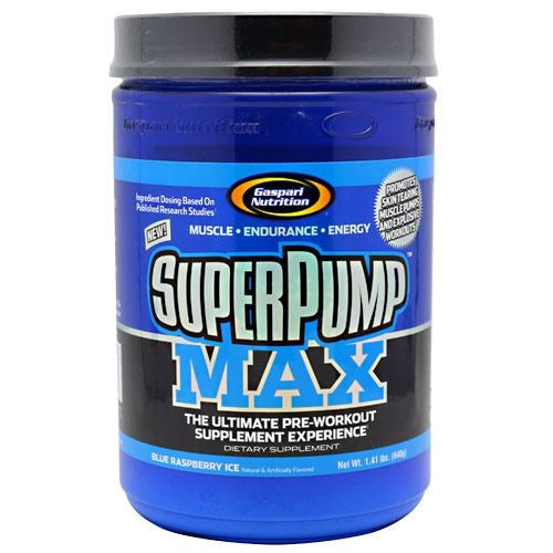 Gaspari Nutrition SuperPump MAX - Blue Raspberry Ice - 40 Servings - 646511007215