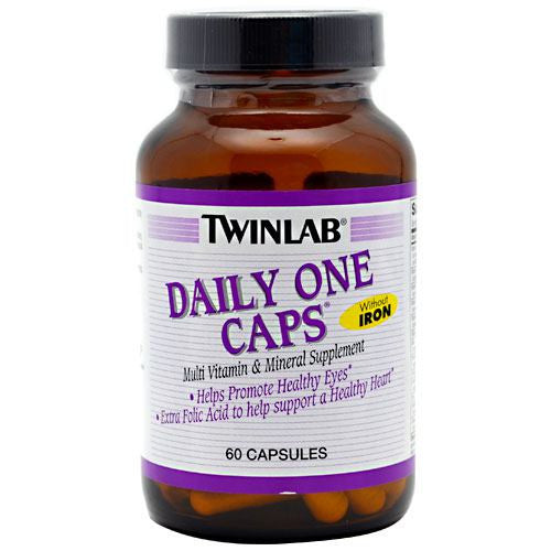 TwinLab Daily One Caps Without Iron - 60 Capsules - 027434036207