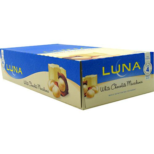 Clif Luna The Whole Nutrition Bar for Women - White Chocolate Macadamia - 15 Bars - 722252200679