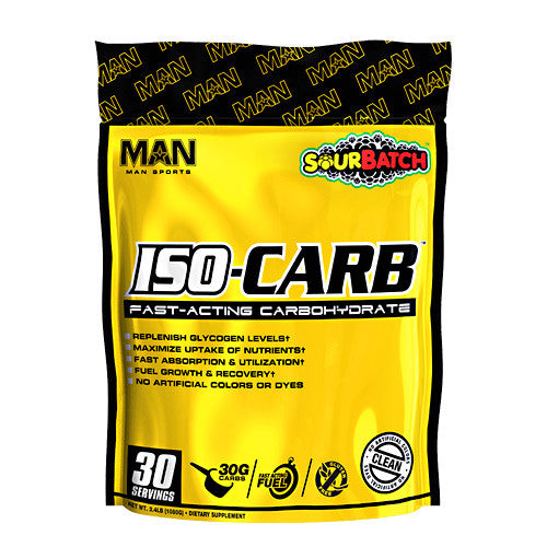 MAN Sports ISO-Carb - Sour Batch - 30 Servings - 853360006744