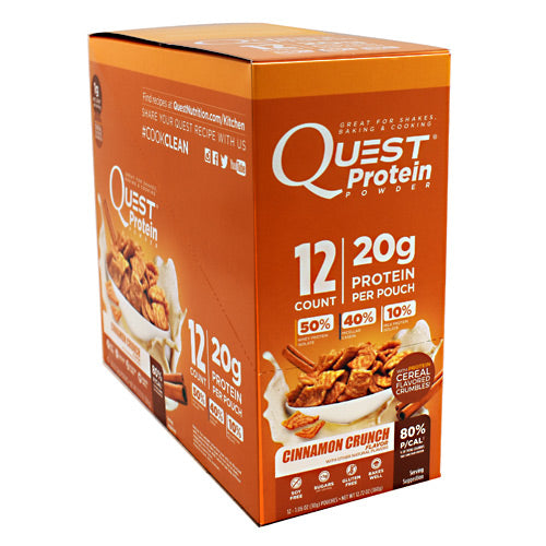 Quest Nutrition Quest Protein Powder - Cinnamon Crunch - 12 ea - 888849005253
