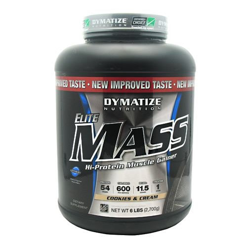 Dymatize Elite Mass - Cookies and Cream - 6 lb - 705016338399