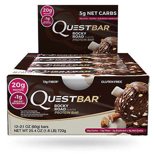 Quest Nutrition Quest Protein Bar Shipper - Rocky Road - 12 ea - 20888849003734