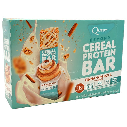 Quest Nutrition Beyond Cereal Protein Bar - Cinnamon Roll - 15 Bars - 888849004935