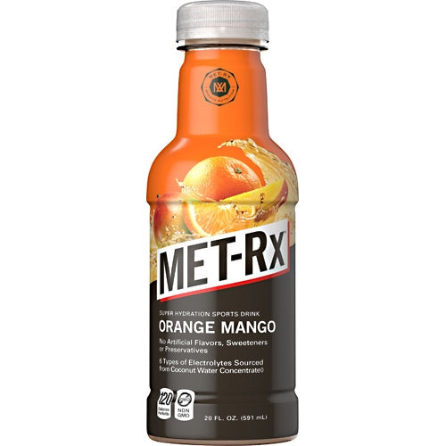 MET-Rx Super Hydration Sports Drink - Orange Mango - 12 Bottles - 00786560663083