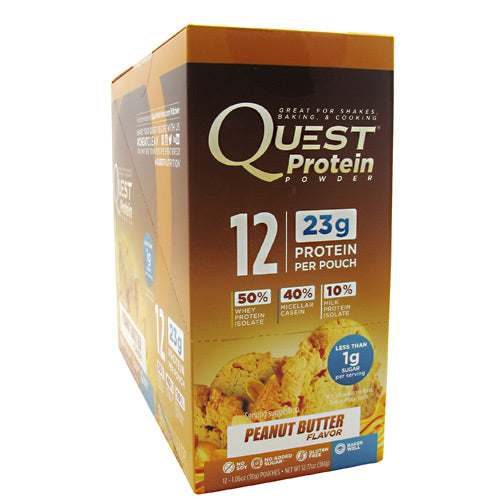 Quest Nutrition Quest Protein Powder - Peanut Butter - 12 ea - 888849000838