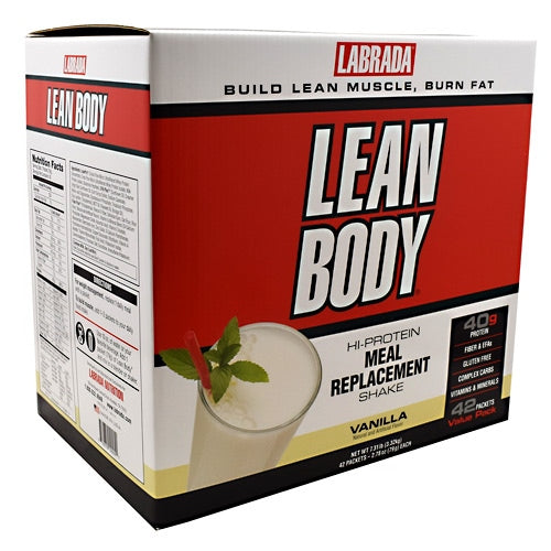 Labrada Nutrition Lean Body - Vanilla - 42 Packets - 710779120051