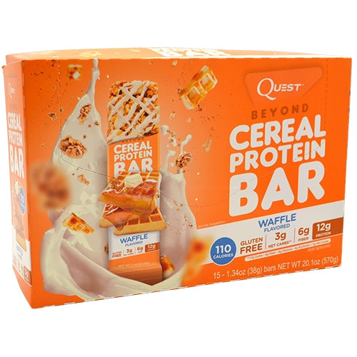 Quest Nutrition Beyond Cereal Protein Bar - Waffle - 15 Bars - 888849004867