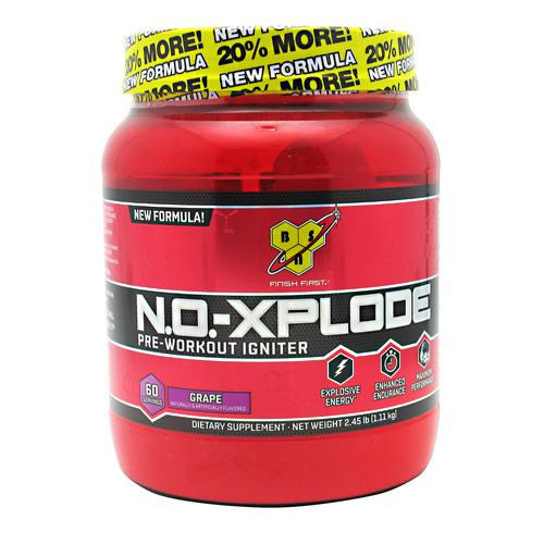 BSN N.O.-Xplode - Grape - 60 Servings - 834266001590