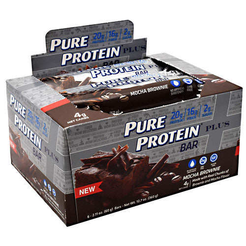Pure Protein Pure Protein Plus Bar - Mocha Brownie - 6 Bars - 749826656762