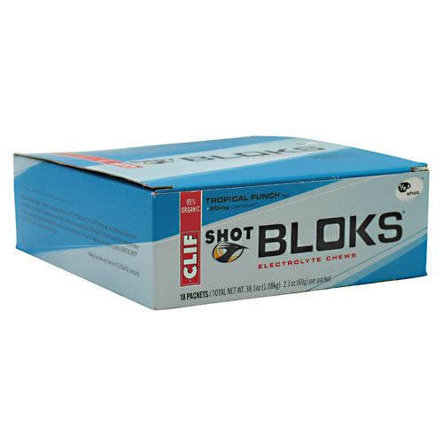 Clif Shot Bloks Electrolyte Chews - Tropical Punch - 18 ea - 722252380692